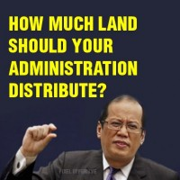 Philippine President Noynoy Aquino's family owns the 6,000 hectare Hacienda Luisita estate. Aquino has been criticized for not seriously pursuing the government's land reform program.