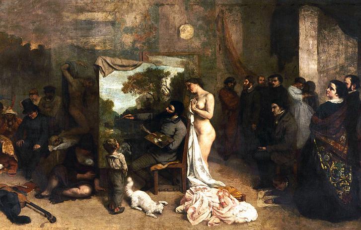 Gustave Courbet's Painter's Studio. Public domain.