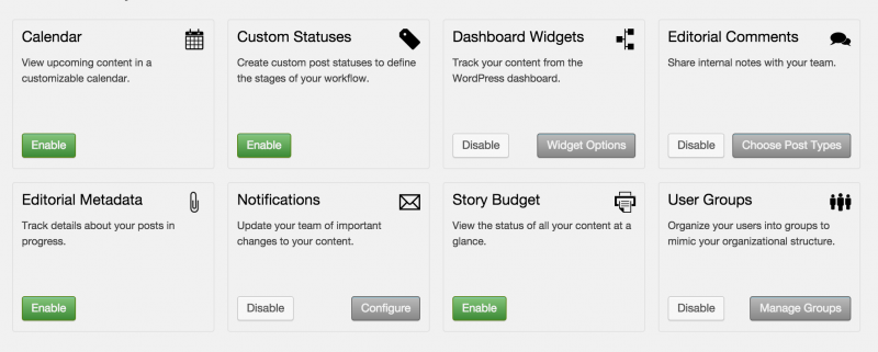 To manage Edit Flow settings visit the Edit Flow link in wp-admin dashboard.