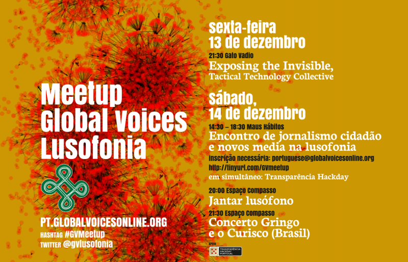 Flyer for #GVMeetup in Porto, Portugal