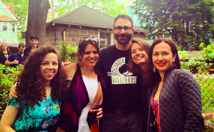 GVer Marianna Breytman, Elaine Diaz, Ivan Sigal, Ellery Biddle and Firuzeh Shokooh Valle meet in Cambridge, MA in 2015.