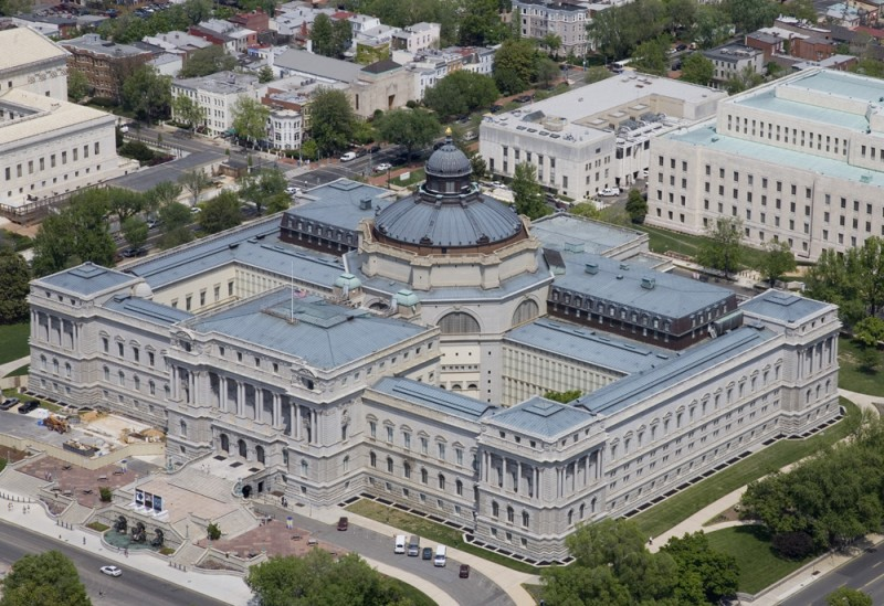 """Thomas Jefferson Building Aerial by Carol M. Highsmith"" by Carol M. Highsmith - Own work. Licensed under CC BY-SA 3.0 via Wikimedia Commons"