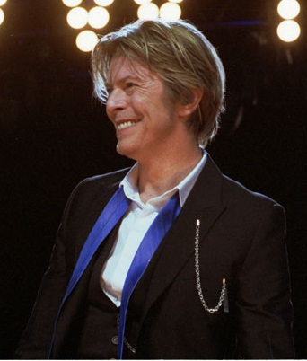 David Bowie at a Chicago concert in 2008. Photograph by Adam Bielawski from Wikimedia Commons used under (CC BY-SA 3.0)