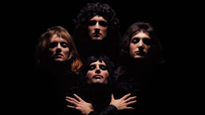 Queen. Taken form the official video of Bohemian Rhapsody in YouTube.