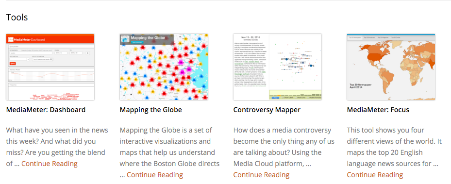 Media Cloud's data visualization tools