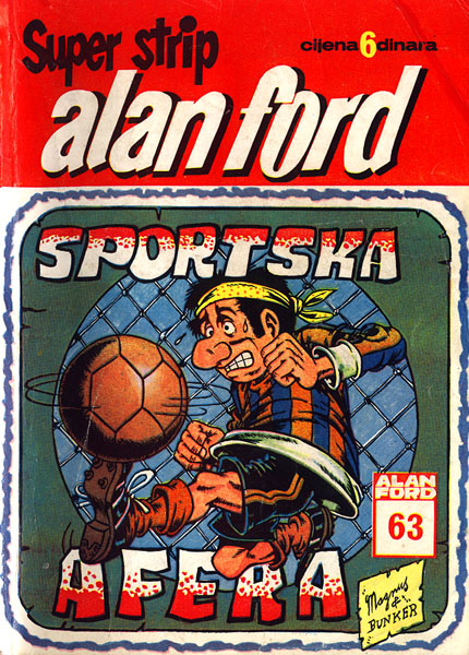 """Sports Affair"" an episode of Italian cult comics ""Alan Ford"" translated in Croatian."