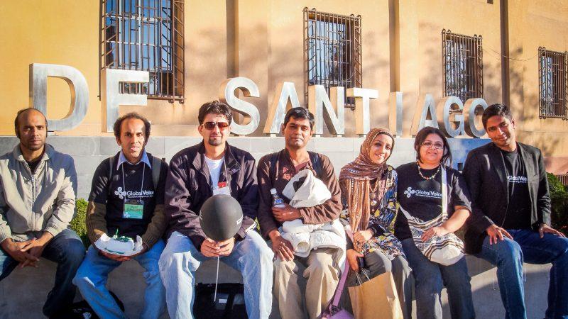 L'équipe Global Voices d'Asie du sud au Chili, 2010. Photo de l'auteur.
