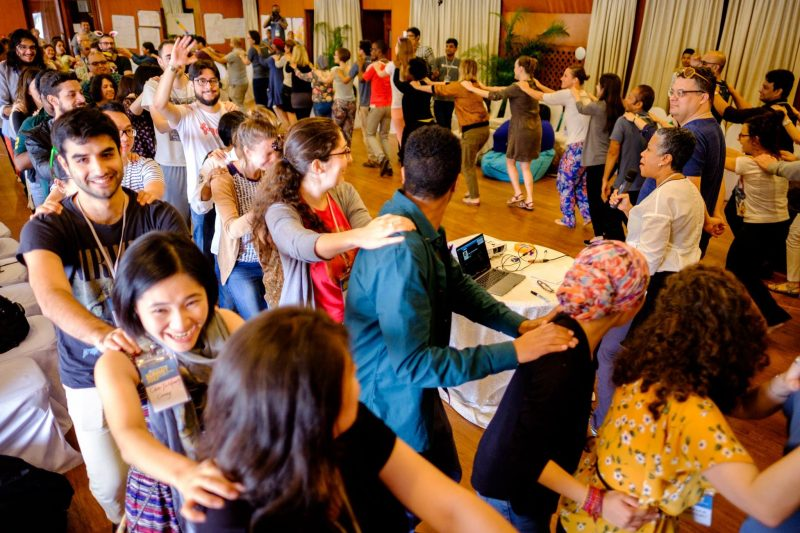 Congo Line at the 2018 Global Voices Summit. Photo: Jer Clarke, published under a CC-BY license.