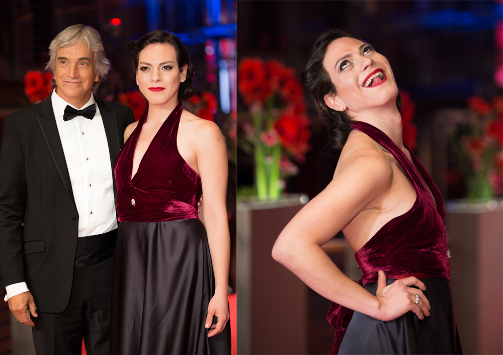 Francisco Reyes and Daniela Vega at the Berlinale 2017)