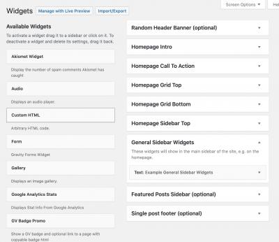 screenshot of widget editor in wordpress